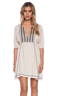 Tigerlily Genevieve Smock Dress in Salt