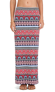 Tigerlily Boheme Maxi Skirt in Rouge