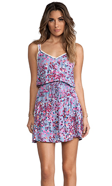 Tigerlily Grasse Floral Dress in Chambray