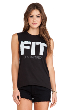 The Laundry Room FIT Muscle Tee in Black