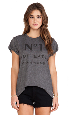 The Laundry Room Number 1 High Low Rolling Tee in Charcoal