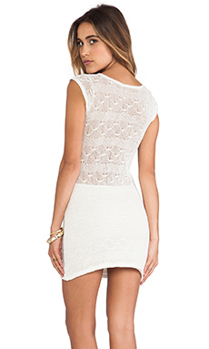 Tylie Crochet Cap Sleeve Dress in Cream