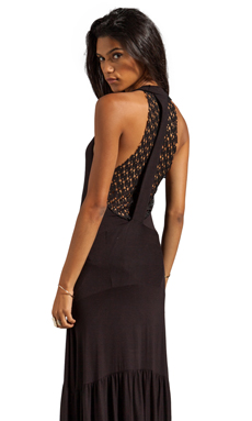 Tylie Diamond Mesh Flare Maxi in Mesh