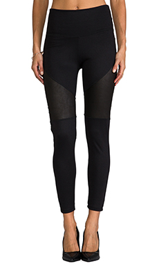 Tylie Patchwork Leather Legging in Black