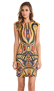 Torn by Ronny Kobo Morgan Dress in Gold Multi