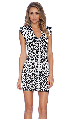 Torn by Ronny Kobo Leanna Dress en Blanc & Noir