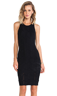 Torn by Ronny Kobo Ursula Dress in Black