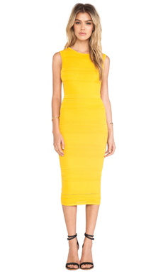 Torn by Ronny Kobo Ambrosia Dress in Yellow