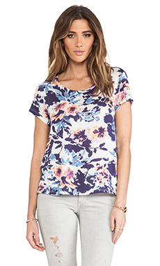 TOWNSEN Lattice Floral T-Shirt in Abyss Floral