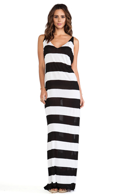 Tyler Rose Swimwear Brennan Maxi in Black & White
