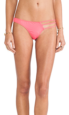 Tyler Rose Swimwear Brock Bottom in Neon Red