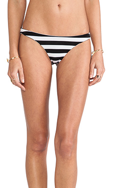 Tyler Rose Swimwear Eli Ruched Bottom in Black & White