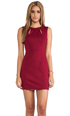Trina Turk Tropical Ponte Barrymore Dress in Pinot
