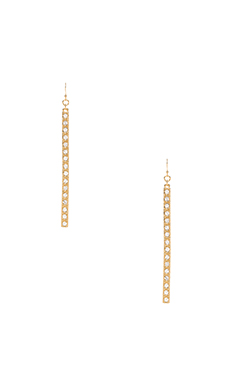 Trina Turk Pave Matchstick Earrings in Gold