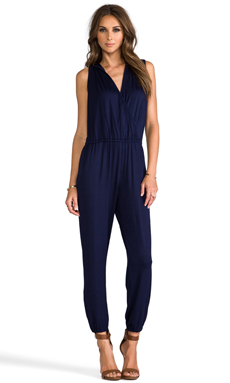 Trina Turk Grace Jones Jumpsuit with Hoodie in Indigo