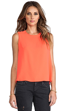 Trina Turk Jaala Top in Hot Coral
