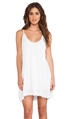 Tularosa Lily Tank Dress in White