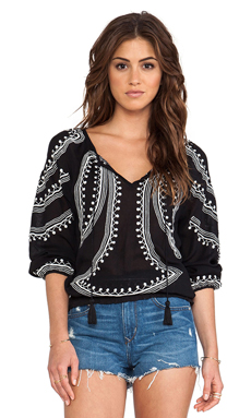Tularosa Georgia Top in Black