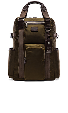Tumi Alpha Bravo Lejeune Backpack Tote in Olive