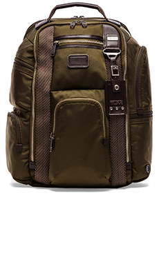 Tumi Alpha Bravo Kingsville Deluxe Brief Pack in Olive