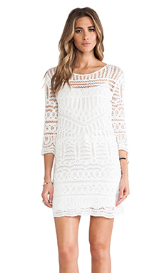 Twelfth Street By Cynthia Vincent Crochet Dress en Blanc