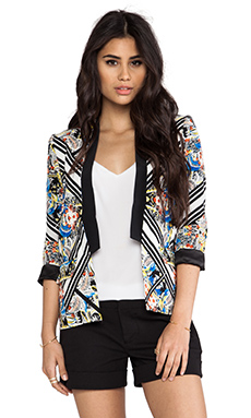 Twelfth Street By Cynthia Vincent Tuxedo Blazer in Diamond Scarf