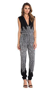 Twelfth Street By Cynthia Vincent Criss Cross Jumpsuit in Black