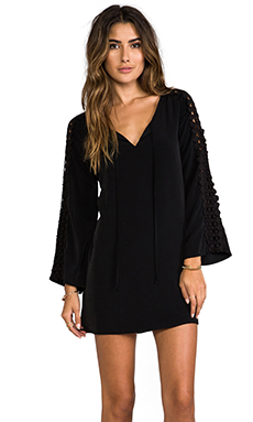 VAVA by Joy Han Elena Bell Sleeve Dress in Black
