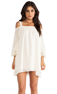 VAVA by Joy Han Eva Open Shoulder Dress in Ivory