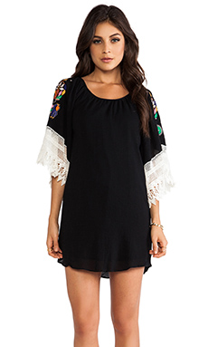 VAVA by Joy Han Lucia Smock Dress in Black