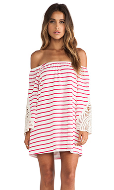 VAVA by Joy Han Meredith Off Shoulder Dress in Fuchsia