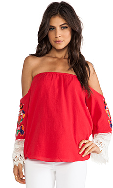 VAVA by Joy Han Lucia Top in Red