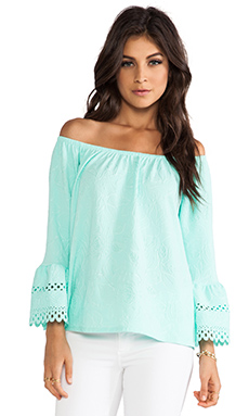 VAVA by Joy Han Esme Bell Sleeve Top in Seafoam