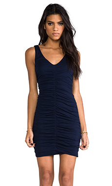 Velvet Gauzy Whisper Cahill Dress in Midnight