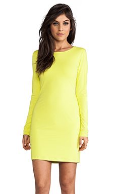 Lily Aldridge for Velvet Beki Rayon Jersey Dress in Lime
