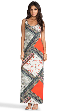 Lily Aldridge for Velvet Martha Scarf Print Maxi in Multi