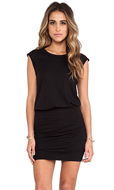 Velvet by Graham & Spencer Elerie Cotton Slub Dress in Black