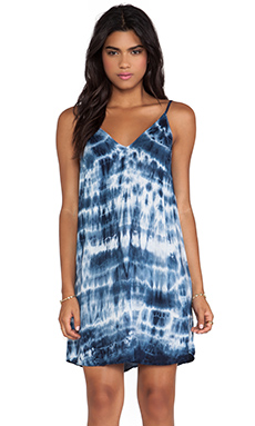 ANATASI TIE DYE RAYON VOILE DRESS