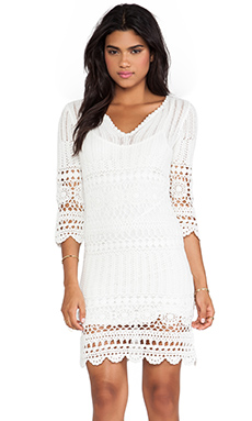 Velvet by Graham & Spencer Vintage Susanna Crochet Dress in White