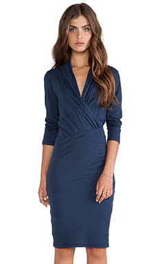 Velvet by Graham & Spencer Roza Gauzy Whisper Wrap Dress in Eclipse