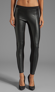 Velvet by Graham & Spencer Odette Ponti Leggings in Black