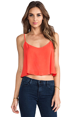 Lily Aldridge for Velvet Behati Rayon Voile Top en Fire