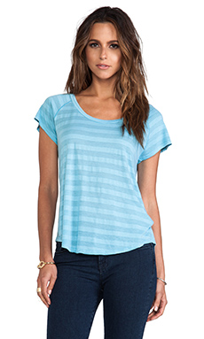 Velvet by Graham & Spencer Erika Tonal Stripe Top in Foxglive