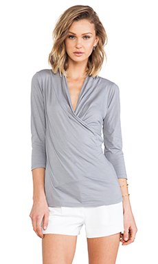 Velvet by Graham & Spencer Adora Whisper Classic Top in Seagull
