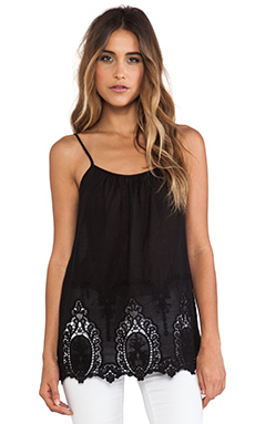 HILDA EYELET EMBROIDERED VOILLE TOP