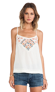 CHARLIZE COTTON GAUZE W/ EMBROIDERY TANK