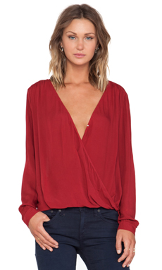 Velvet by Graham & Spencer Joon Rayon Challis Top in Ruddy