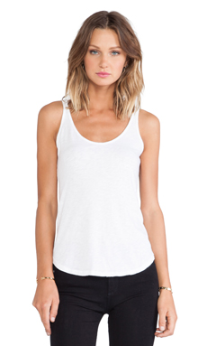 Velvet by Graham & Spencer Lee Cotton Slub Tank en Blanc