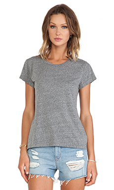 Velvet by Graham & Spencer Ashlyn Heather Grey Knit Short Sleeve Top in Grey