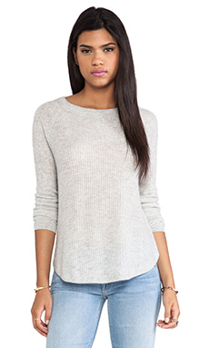 Vince Deep Raglan Sweater in Stonewash